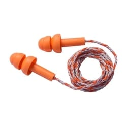 Flange Classic, Corded, 23 dB NRR, Orange w/ Textile Cord, 100/Box