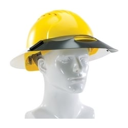 Sun Shade Extension, Fits Cap Style Hard Hats, 40 mil Dark Green