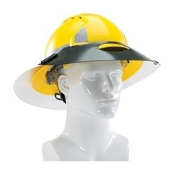 Sun Shade Extension, Fits Full Brim Hard Hats, 40 mil Dark Green