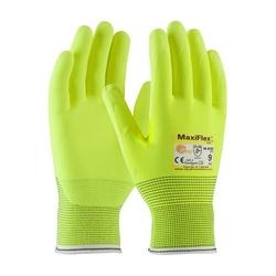 MaxiFlex Cut, Hi-Vis Eng Yarn, Hi- Vis Nitrile MicroFoam Grip, A2/EN3, Small