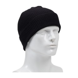 Flame Resistant Knit Watch Cap, Modacrylic, ASTM F1506, Black