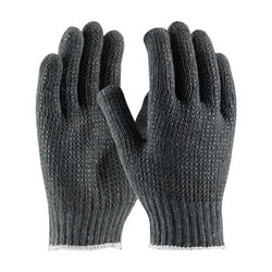Cotton/Polyester, 7G Gray. Shell, 2 Side Black Dot Pattern, Small