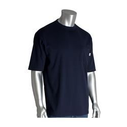 AR/FR Short Sleeve T-shirt, 11 Cal 6.5 oz Interlock Cotton, Lt. Grey, Large