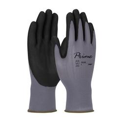 Prime, Gray Nylon Shell, Black Foam Nitrile Grip, Touchscreen, XS