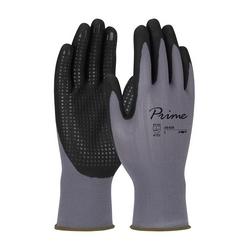 Prime, Gray Nylon Shell, Black Foam Nitrile Grip, Dotted Palm, Touchscreen, Small