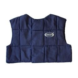 E-Cooline Evap. Cooling Vest, Hook & Loop Closure, Engineered Fleece, SM, Nvy