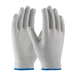 Nylon and Carbon Fiber Yarns, White PVC Dotted Grip, Small