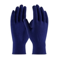 Polypropylene Gloves, 13 Gauge, Weight, Dark Blue, XS