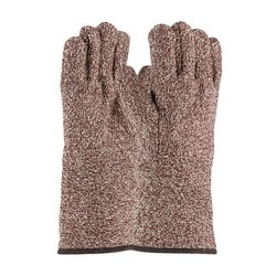 Terry Cloth Seamless Gloves, Loop- Out, 32 oz., 4.5 Inch GC, Brown, Large