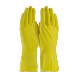 Assurance Unsupport Latex, Yellow., 16 Mil, 12 Inch, Flocked, Honeycomb, 2XL