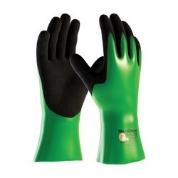 MaxiChem, Nylon/Lycra Liner, Green/ Black Nitrile Blnd, Full Coat, 12 In., Large
