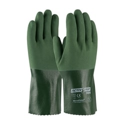 Supported, 13G Poly/Cotton Shell, Green Nitrile w/MicroFinish, 12 Inch, XL