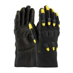 FR Treated Synthetic Leather Glove, Kevlar Lined, Reinforced Palm, Medium