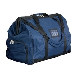 Gear Bag, Blue, Polyester, 28L x 22H x 16.5W, Pad Shoulder Strap