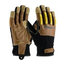 MAXIMUM SAFETY, Kevlar Lined, Goat Leather Palm, TPR on Fingers, EN4, XL
