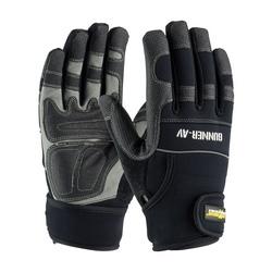 GUNNER AV, Padded Synthetic PVC/ Black Palm, Spandex Back, Wrist Strap, Small