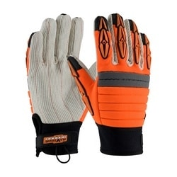 DERRICKMEN, Poly/Cotton Palm, HV Orange Back, TPR on Fingers, 2XL