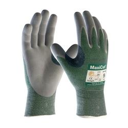 MaxiCut 3, Gray. MicroFoam Nitrile Coated Palm, Enginieerd Yarn Shell, EN3, 3XL