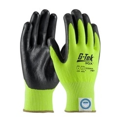 G-Tek 3GX w/HV Green Dyneema Diamond, Black Foam Nitrile, EN5, 2XL