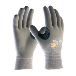 MaxiCut 5, Gray. Dyneema/Engineered Yarn Shell, 3/4 Foam Nitrile Coat, EN5, XL