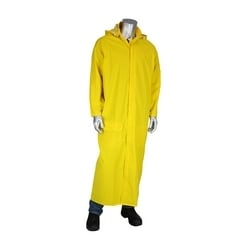 Rider FR Raincoat 60in. Treated .35 mm PVC/Poly, Hood, Yellow, 3XL