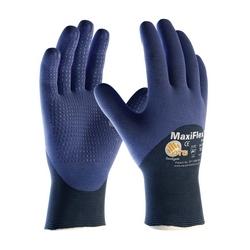MaxiFlex Elite, 18G Blue Nylon Shell, 3/4 MicroFoam Nitrile Dot, Small