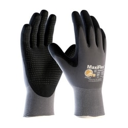 MaxiFlex Endurance, 15G Gray Nylon Shell, Black MicroFoam Nitrile Dot, Small