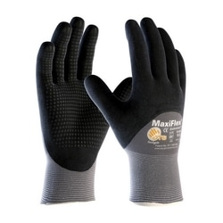 MaxiFlex Endurance, 15G Gray Nylon, Black 3/4 MicroFoam Nitrile Dot Coat, 2XL