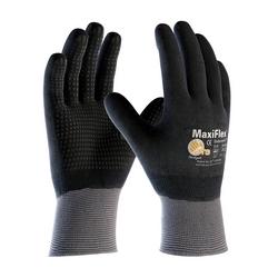 MaxiFlex Endurance, 15G Nylon, Full Coat Black MicroFoam Nitrile Dot, 2XL