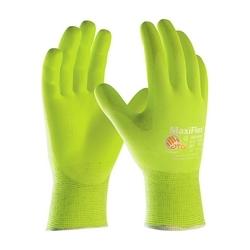 MaxiFlex Ultimate, 15G HV Yellow Nylon Shell, HV Yellow Nitrile MicroFoam, 2XL