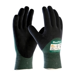 MaxiFlex Cut, Green Engineered Yard, Black 3/4 MicroFoam Nitrile Coating, EN3, 2XL
