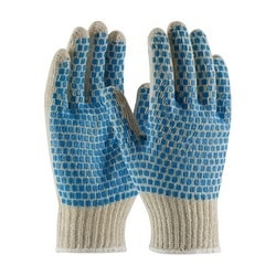Cotton/Polyester, 7G, Reg Weight, 2 Side Blue PVC Brick, Small
