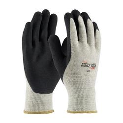 G-Tek 10G Gray. Cotton/Polyester Shell, Black MicroFinish Grip, 2XL