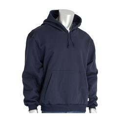 AR/FR Hooded Sweatshirt, 20 Cal, 12 oz. Cotton Flc, Pullover, Navy, 3XL