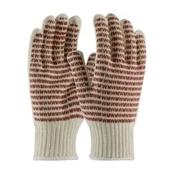 Cotton Knit, EverGrip MW Pattern, Rust Nitrile Coat, 2 Sides, Hvy Weight, Small