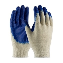 Cotton/Polyester, Blue Latex Coated Palm, Econ Grade, Large