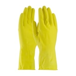 Assurance Unsupport Latex, Yellow., 14 Mil, 12 Inch, Flocked, Honeycomb, Small