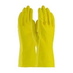 Assurance Unsupport Latex, Yellow., 21 Mil, 12 Inch, Flocked, Diamond, Large