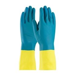Assurance Unsupport Neo/Latex, Blue/Yellow, 28 Mil, 12 In, Flock, Diamond, XL