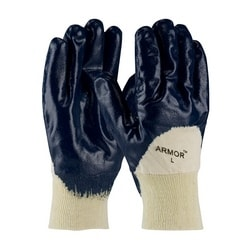 ArmorTuff, Jersey Liner, Blue, Nitrile Palm Coating, KW, XL
