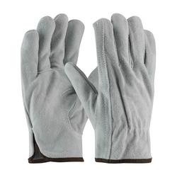 Split Cowhide Drivers, Premium Grade, Gray., Keystone Thumb, XL