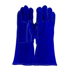Blue Bison Welding Glove, Select Shoulder, Cotton Lined, Kevlar Stitch