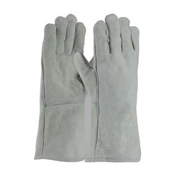 Welding Glove, Shoulder Grade, Cotton Lining, Gray., Right Hand Only