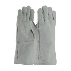 Welding Glove, Shoulder Grade, Cotton Lining, Gray., Left Hand Only