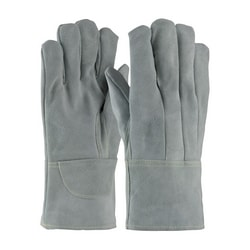 Foundry Glove, Hvy Side Split Cow, Wool Lined, Gray., Sewn w/Kevlar