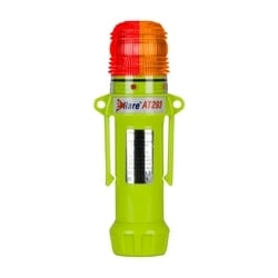 """Red/Amber, Dual Flashing 2-Color, 4+4 LED, Four """"AA"""" Batteries"""