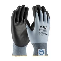 G-Tek 3GX w/Blue Dyneema Diamond/ Yellow Shell 18G, PU Coating, EN3, XL