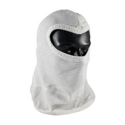 100% Nomex Hood w/ Bib, Slit-Eye Coverage, Single Layer, White, OSFM