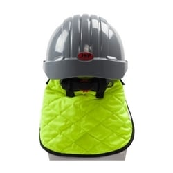 Hard hat evaporative cooling hi visibility neck shade, Yellow