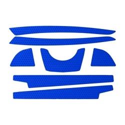 CR2 Reflective Kit for Evo6100 Hard Hat, Full Brim, Blue, 10/Pack, Large